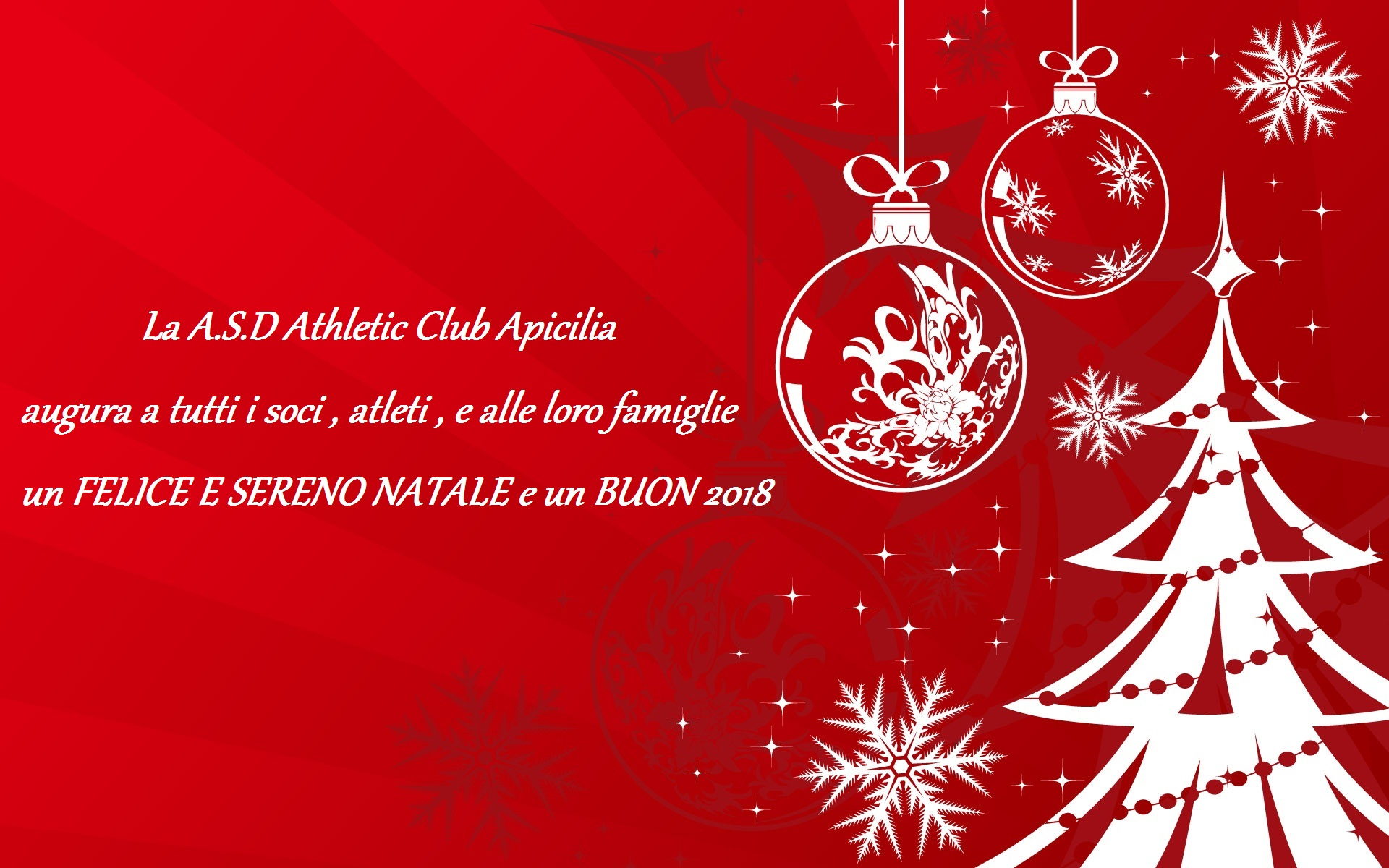 Auguri Di Buone Feste Natalizie Immagini.Tanti Auguri Di Buone Feste A S D Athletic Club Apicilia